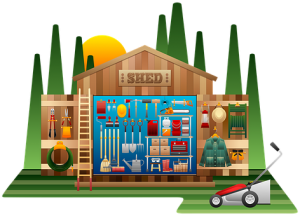 Self Store And More- Shed cartoon -Lydney-Ross-On-Wye- Monmouth